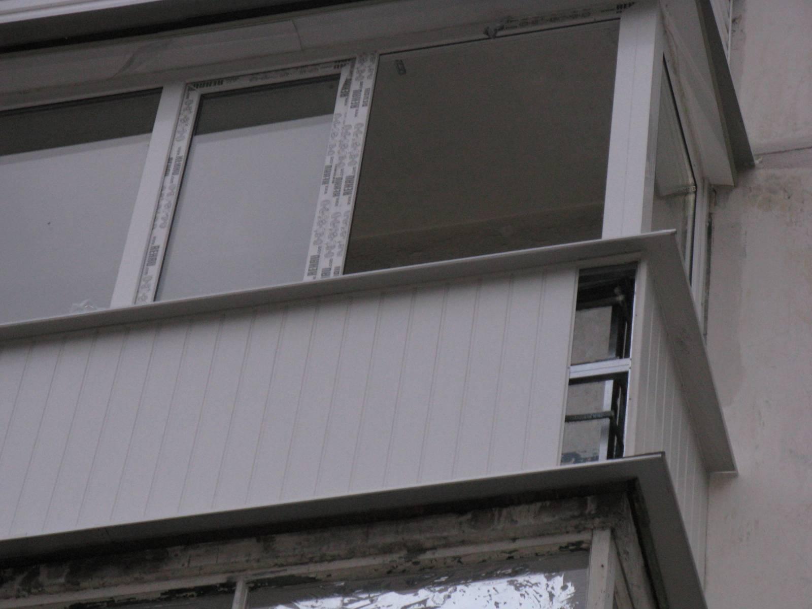 Технология обшивки балкона снаружи профлистом своими руками..